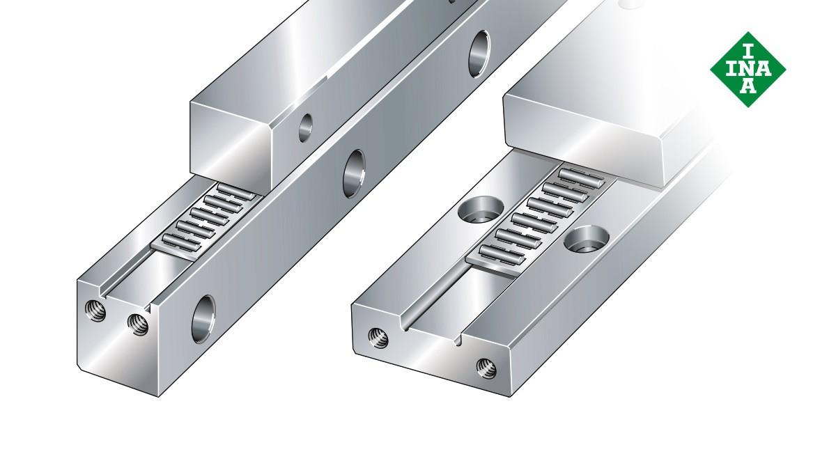 Schaeffler lineáris vezetékek: J/S vezetéksínek tűgörgős sík kosárral