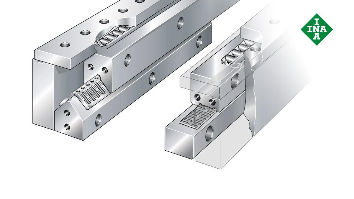 Schaeffler lineáris vezetékek: Megfogó rendszer tűgörgős és hengergörgős sík kosarakkal