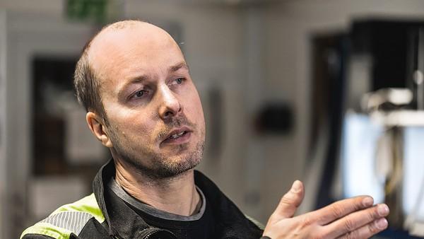 Mikael Eriksson, a Kåge fűrészüzem üzemeltetője